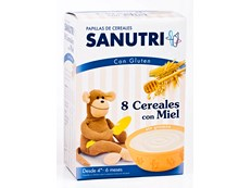 SANUTRI 8 CEREALES MIEL 600GR