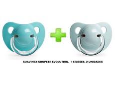 SUAVINEX CHUPETE EVOLUTION. +6MESES. 2UNIDADES