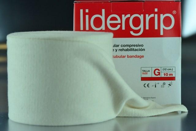 Venda tubular G compresiva Lidergrip (12cm. x 10m.)