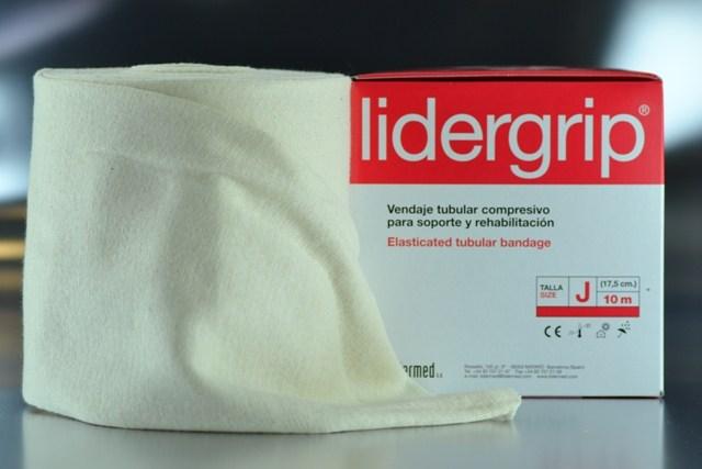 Venda tubular J compresiva Lidergrip (17,5cm. x 10m.)