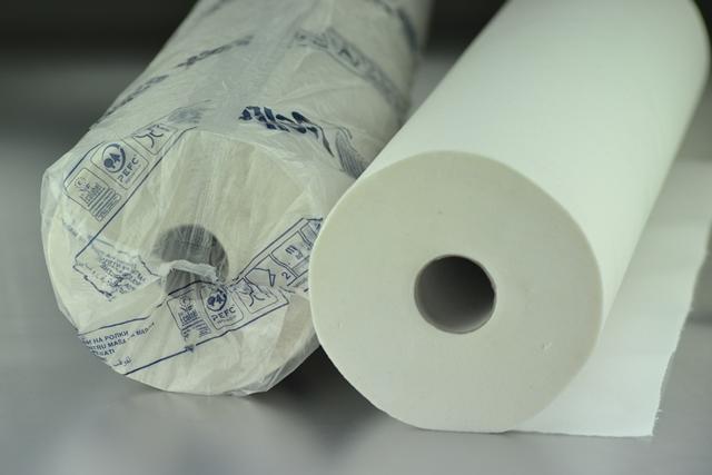 Rollo papel camilla 2 capa Laminado 80 m. x 60 cm. de ancho (Precorte 40 cm.)