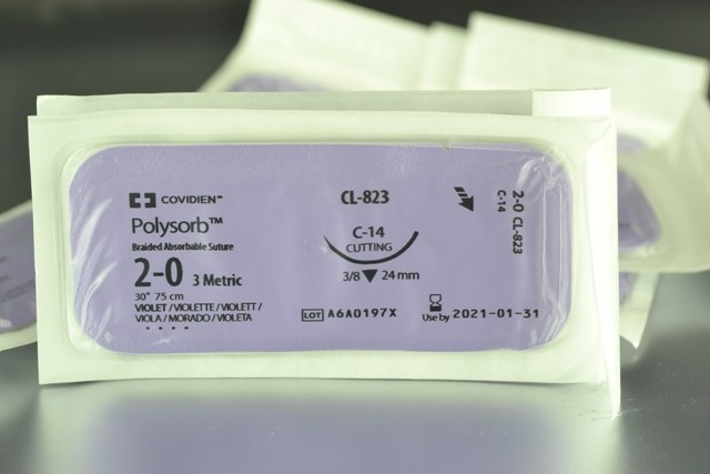 Sutura POLYSORB 2/0 24mm.TRIANGULAR 3/8 (12 unid.)