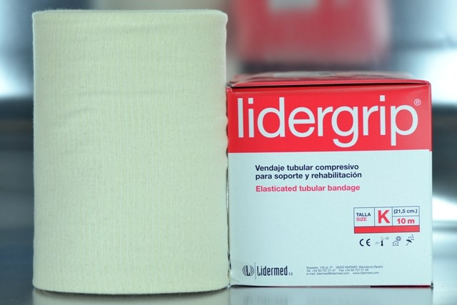 Venda tubular K compresiva Lidergrip (21,5cm. x 10m.)