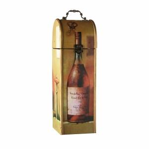 Estuche de Madera decorado para 1 Botella.
