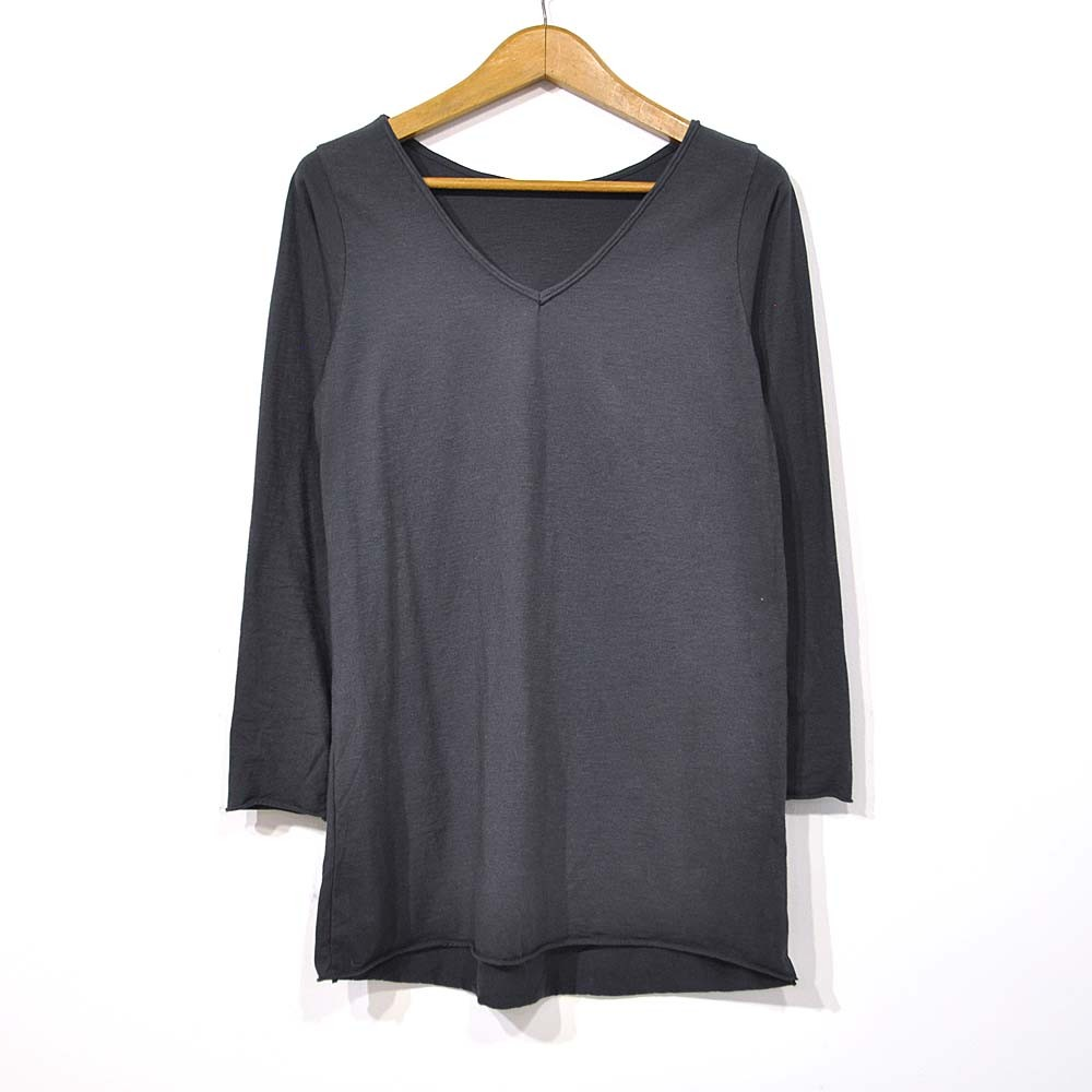Camiseta larga gris