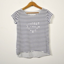 Camiseta rayas moments blanca
