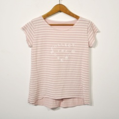 Camiseta rayas moments rosa