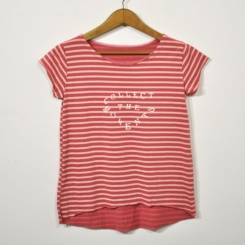 Camiseta rayas moments coral