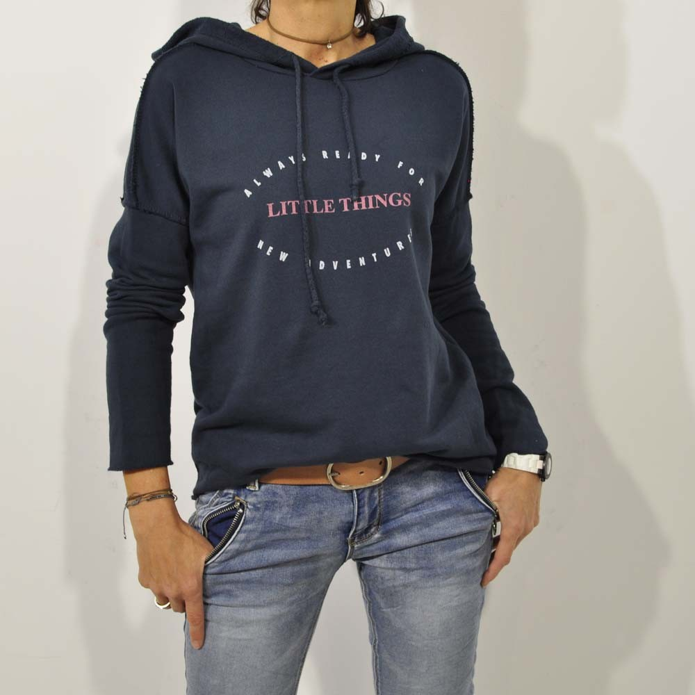 Sudadera little things marino