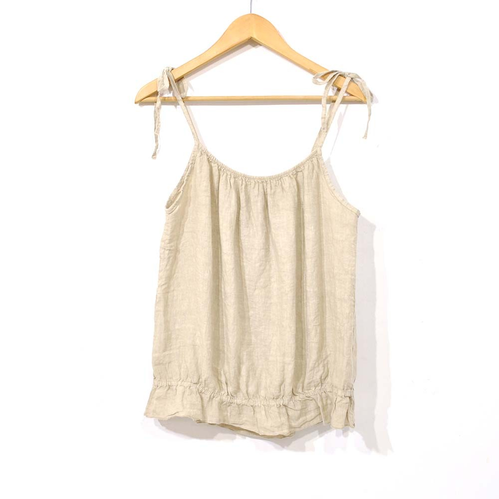 Top lazo beige