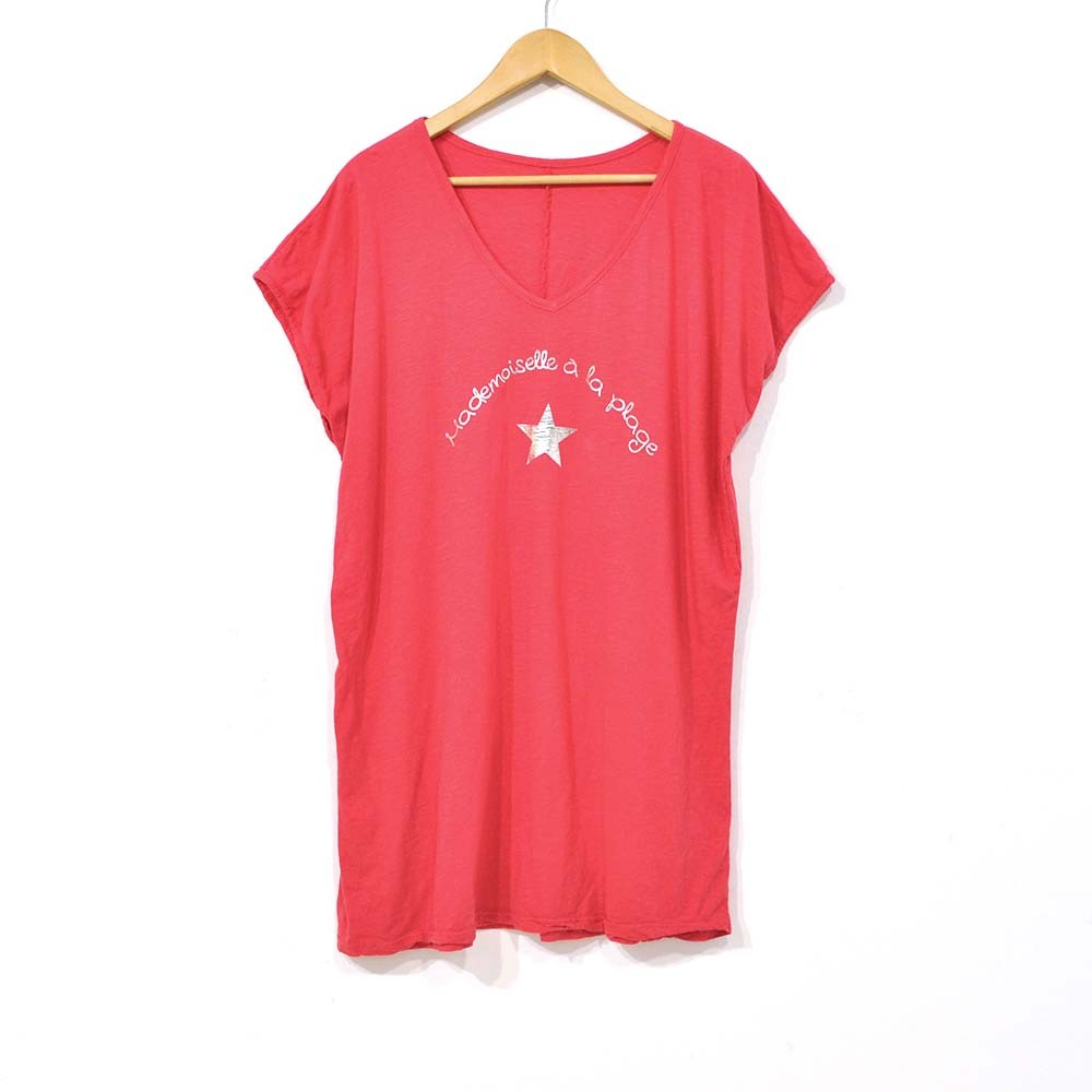 Camiseta playera fresa