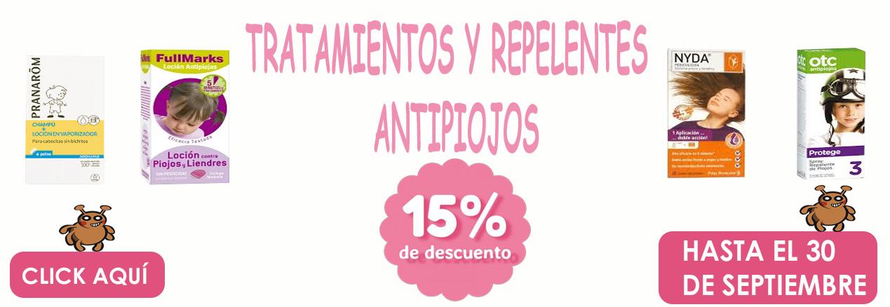 Antipiojos 15% de descuento