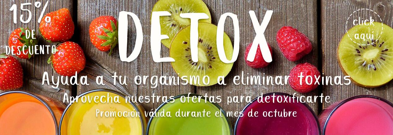 Productos Detox 15% de descuento