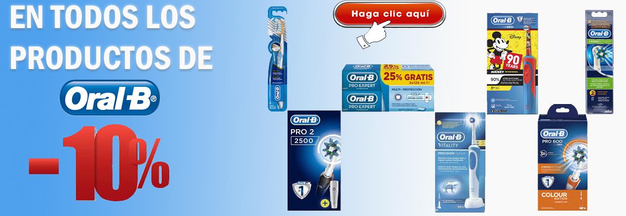 En todos los productos Oral-b todos los productos a un 10% de descuento
