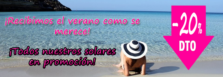 Solares promoción en Farmacosmetia