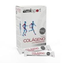 AML-Sport colageno con magnesio sticks sabor fresa 20 sticks