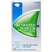 NICORETTE ICE MINT 2MG 105 CHICLES