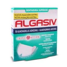 Algasiv Dentadura Superior 18 Almohadillas Adhesivas