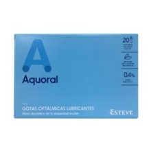 AQUORAL GOTAS OFTÁLMICAS LUBRICANTES 20 MONODOSIS CON CIERRE X 0.5ML