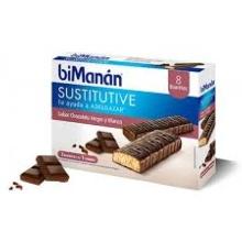 Bimanán 8 Barritas Chocolate Negro y Blanco