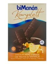 Bimanan 6 barritas chocolate negro y naranja