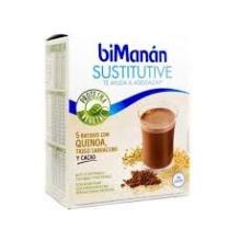 Bimanan Sustitutive 5 batidos con Quinoa, Trigo Sarraceno y Cacao