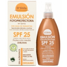 D'shilla Emulsión fotoprotectora/bronceadora spray 200ml