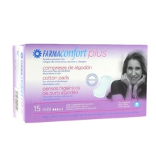FarmaConfort Plus Compresas algodón mini 15