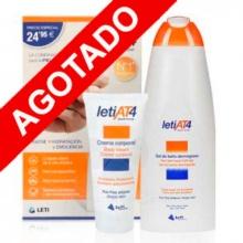 Leti AT4 Gel de Baño+ Crema corporal Pack Promoción