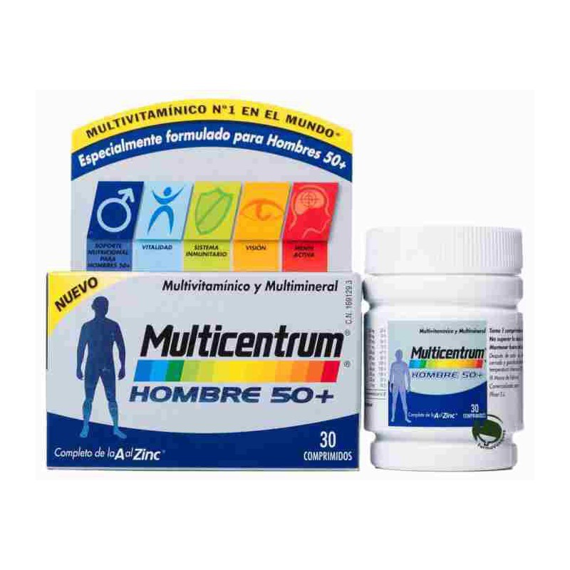 10141048965279 Multicentrum Hombre 50+, 30 comprimidos| Farmacia FarmaCosmetia