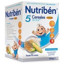 Nutribén 5 cereales con fibra 600g