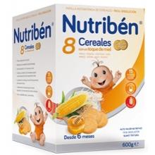 Nutribén 8 cereales con un toque de miel. fibra