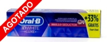 Oral B 3D White Luxe Brillo Seductor 75ml+25ml