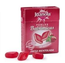 JUANOLA PERLAS BALSÁMICAS FRESA MENTOLADA 25G
