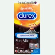 DUREX FUN MIX EXPLOSIÓN DE PLACER 10 PRESERVATIVOS