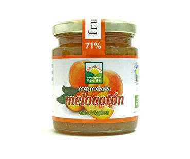 Mermelada de melocotón con agave Abellán 280g.