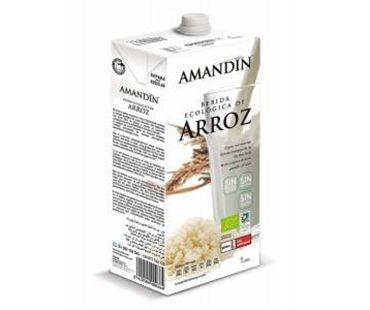 Bebida de arroz Amandin 1l.