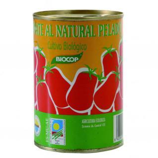 Tomate al natural pelado Biocop 390g.