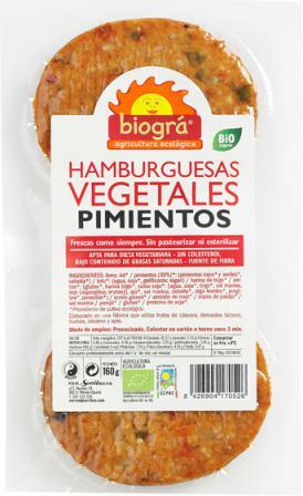 Hamburguesa con pimientos Biográ 160g.