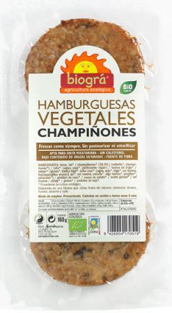 Hamburguesa con champiñones Biográ 160g.