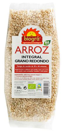 Arroz integral redondo Biográ 500g.