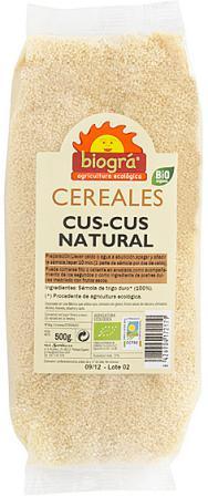 Cuscus natural Biográ 500g.