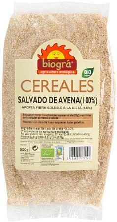 Salvado de avena puro Biogra 500g.
