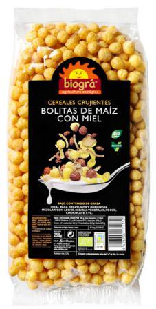 Bolitas de maíz con miel Biográ 250g.