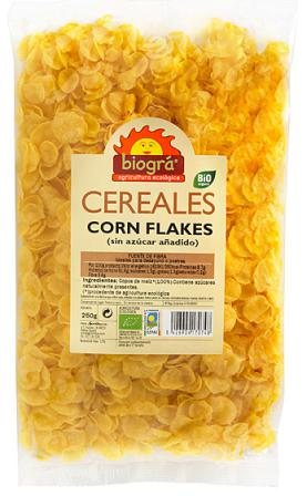 Corn flakes sin azúcar Biográ 250g.