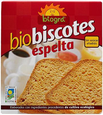 Biscotes de espelta sin azúcar Biográ 270g.
