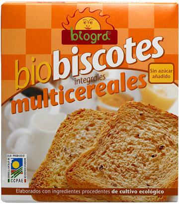Biscotes multicereales sin azúcar Biográ 270g.