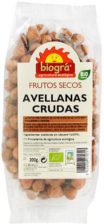 Avellanas crudas Biográ 200g.