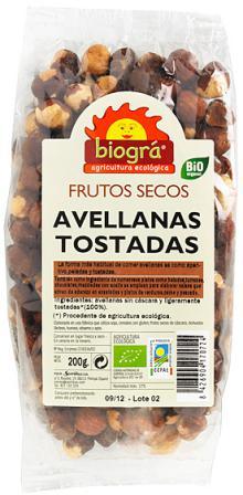 Avellanas tostadas Biográ 200g.
