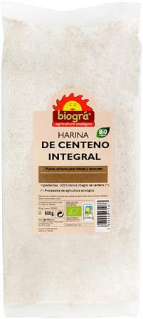 Harina de centeno integral Biográ 500g.